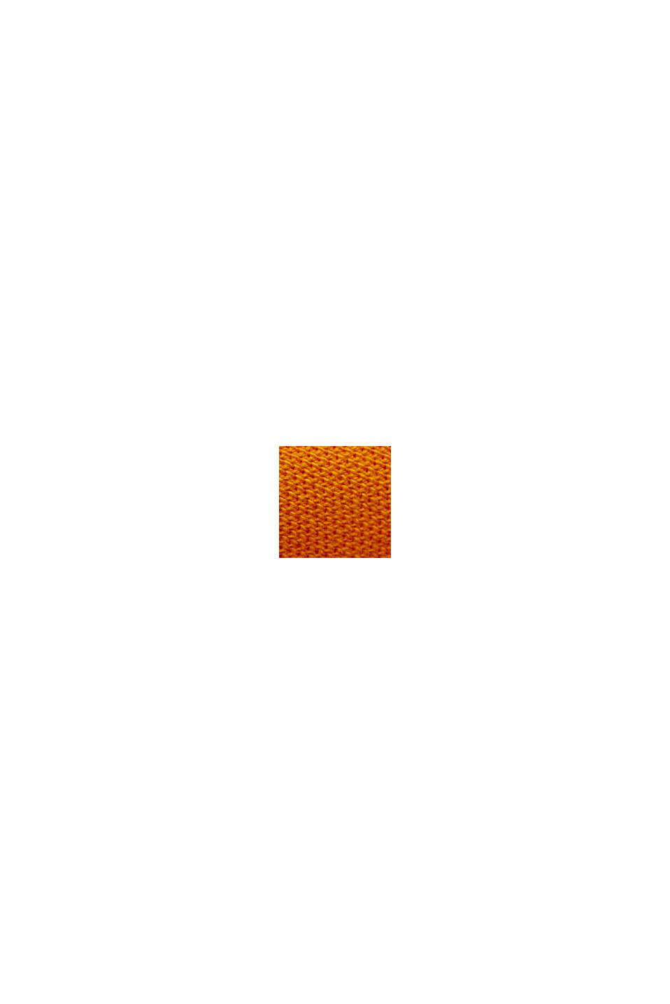 Polo en maille piquée 100% coton bio, SUNFLOWER YELLOW, swatch