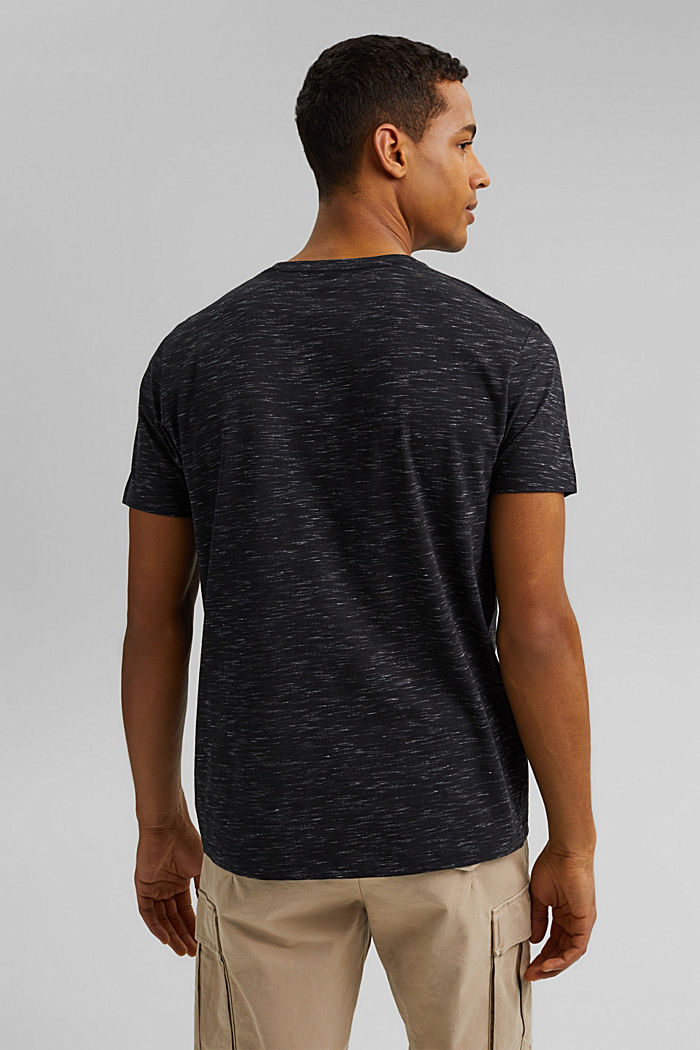 Recycled: T-shirt with organic cotton, ANTHRACITE, detail image number 3