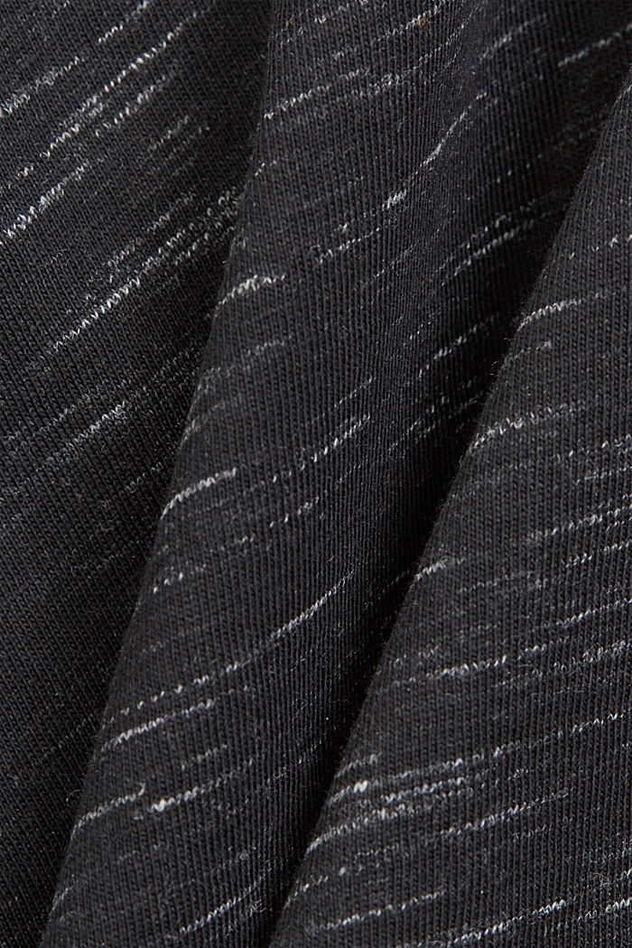 Recycled: T-shirt with organic cotton, ANTHRACITE, detail image number 4