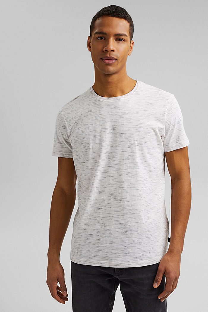 Recycelt: T-Shirt mit Organic Cotton, OFF WHITE, detail image number 0