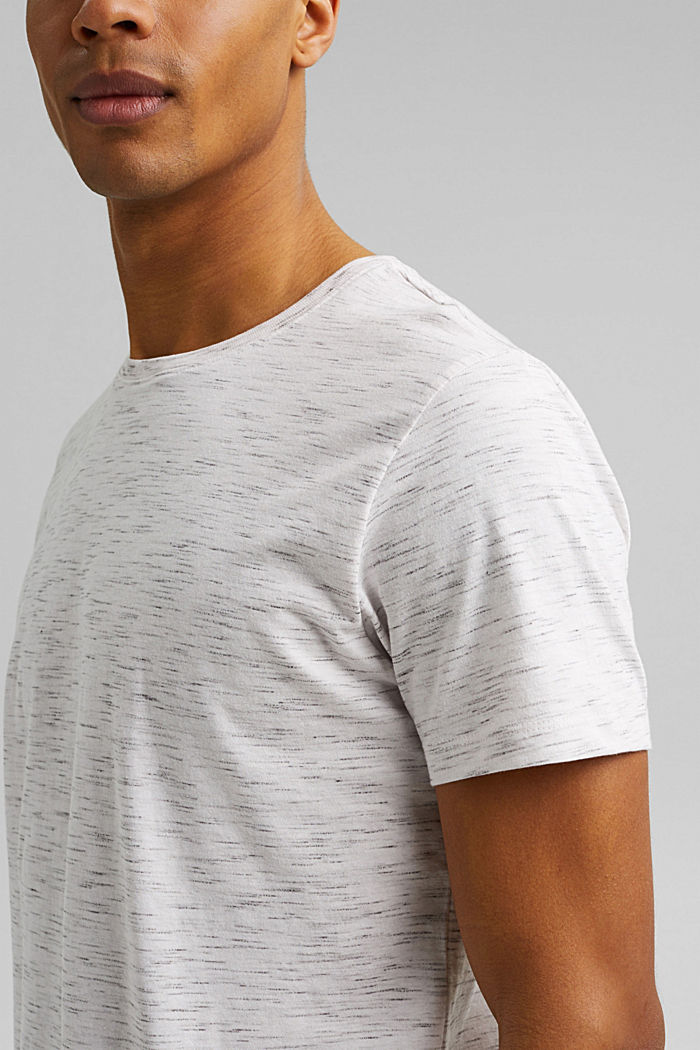 Recycelt: T-Shirt mit Organic Cotton, OFF WHITE, detail image number 1