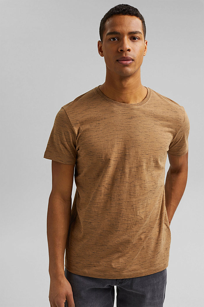 Recycled: T-shirt with organic cotton, KHAKI BEIGE, detail image number 0