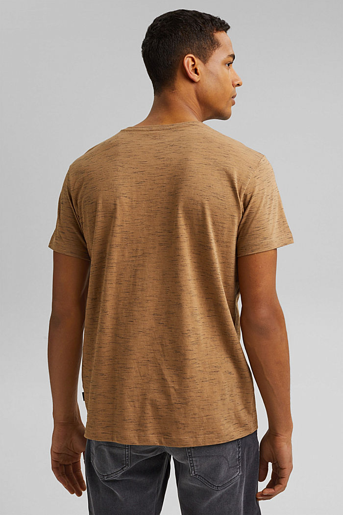 Recycled: T-shirt with organic cotton, KHAKI BEIGE, detail image number 3