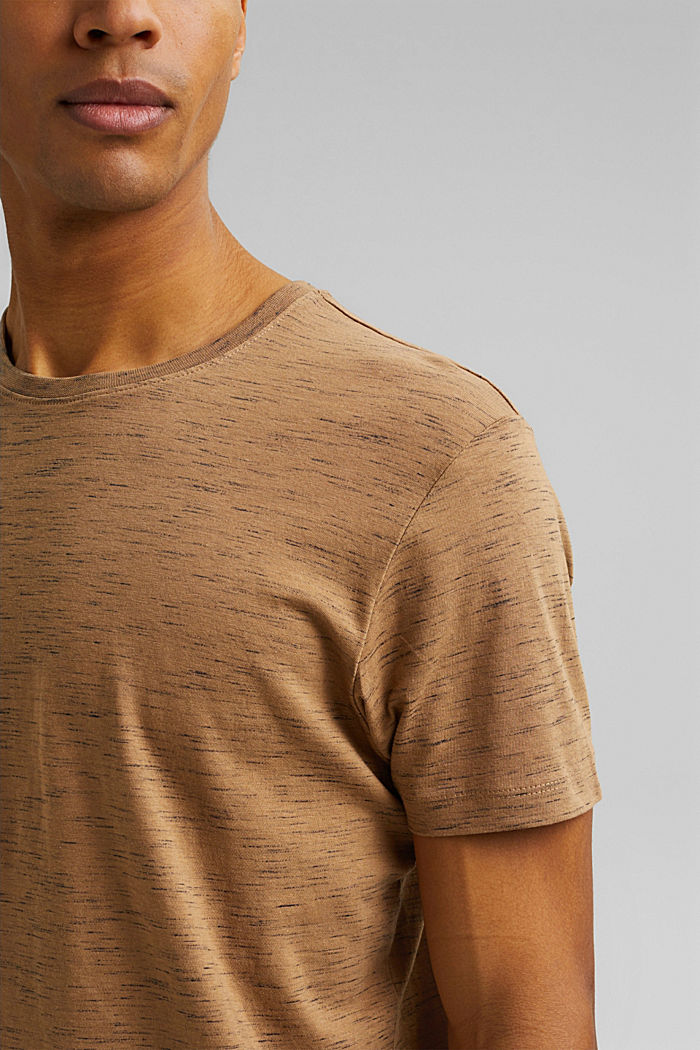 Recycled: T-shirt with organic cotton, KHAKI BEIGE, detail image number 1