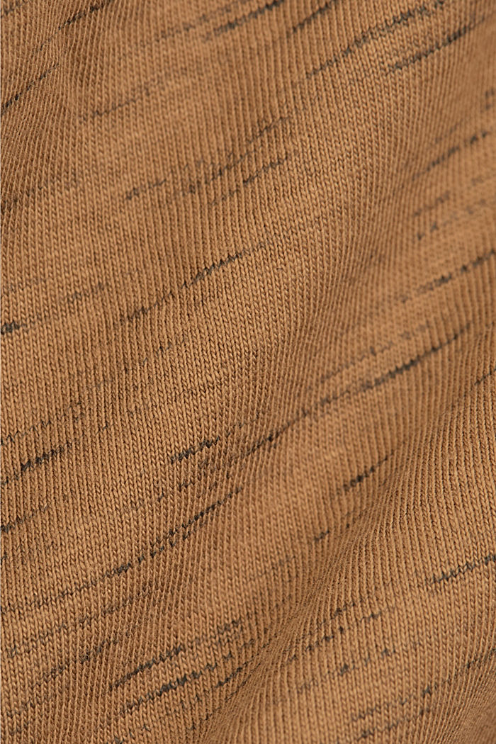 Recycled: T-shirt with organic cotton, KHAKI BEIGE, detail image number 4