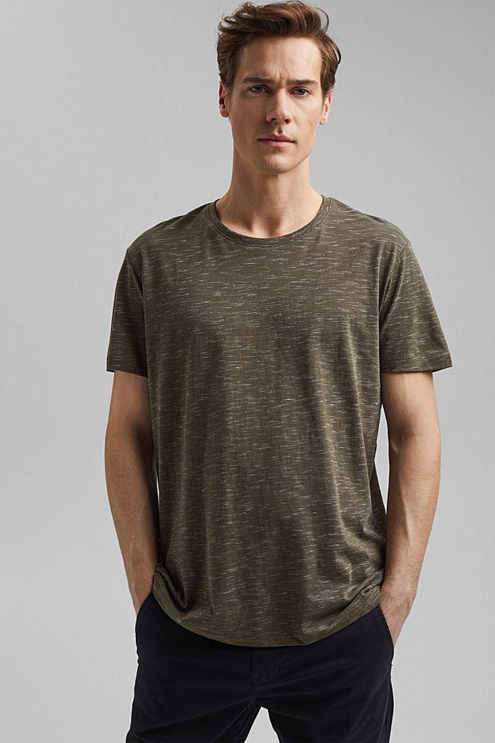 En matière recyclée: le t-shirt à teneur en coton bio, DARK KHAKI, detail image number 0