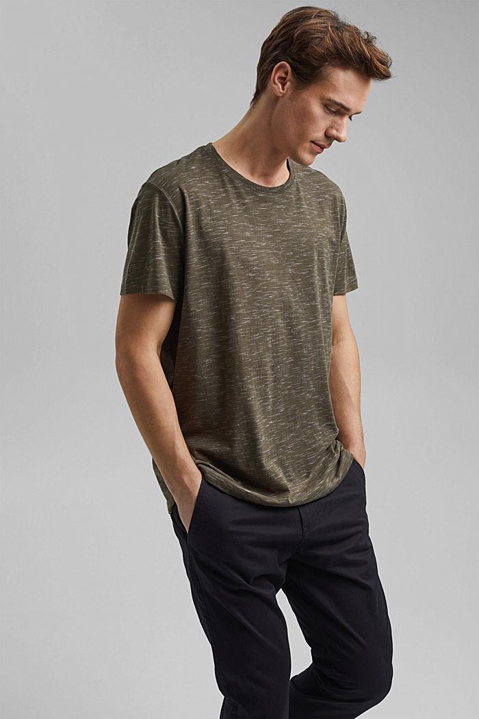 En matière recyclée: le t-shirt à teneur en coton bio, DARK KHAKI, detail image number 4