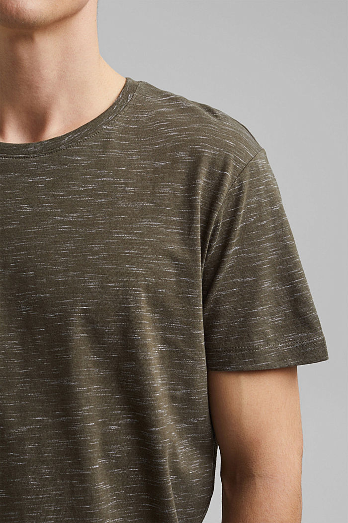Recycled: T-shirt with organic cotton, DARK KHAKI, detail image number 1
