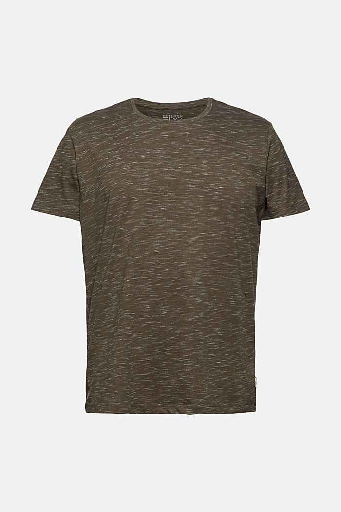 Recycled: T-shirt with organic cotton, DARK KHAKI, detail image number 6