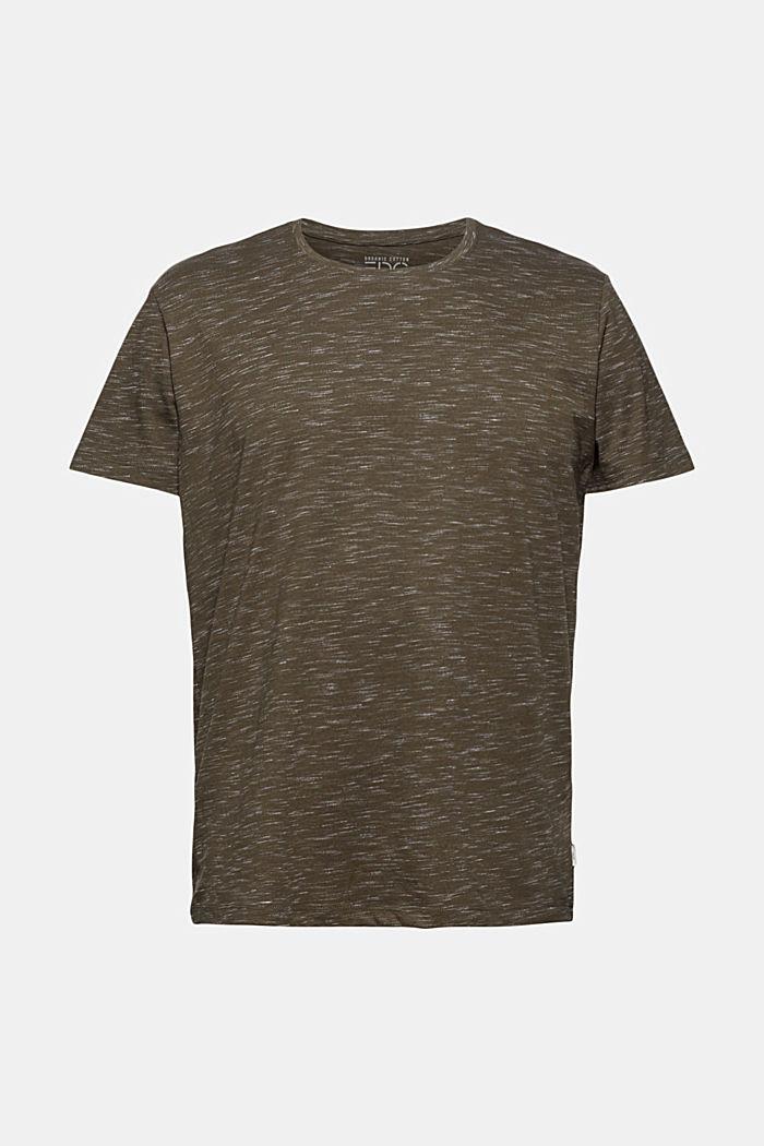 En matière recyclée: le t-shirt à teneur en coton bio, DARK KHAKI, detail image number 6