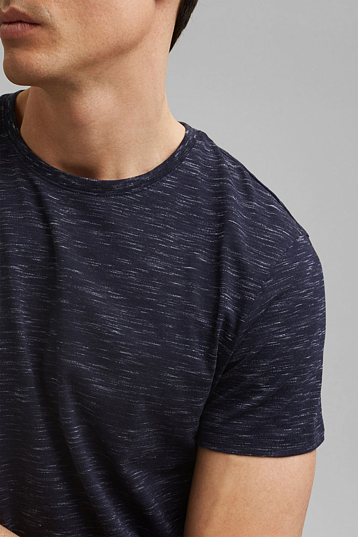 Recycled: T-shirt with organic cotton, NAVY, detail image number 1