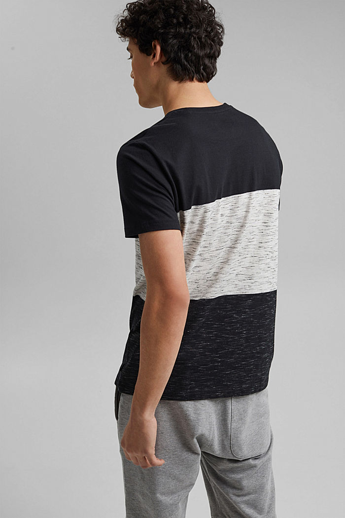 Block stripe top, organic cotton, ANTHRACITE, detail image number 3
