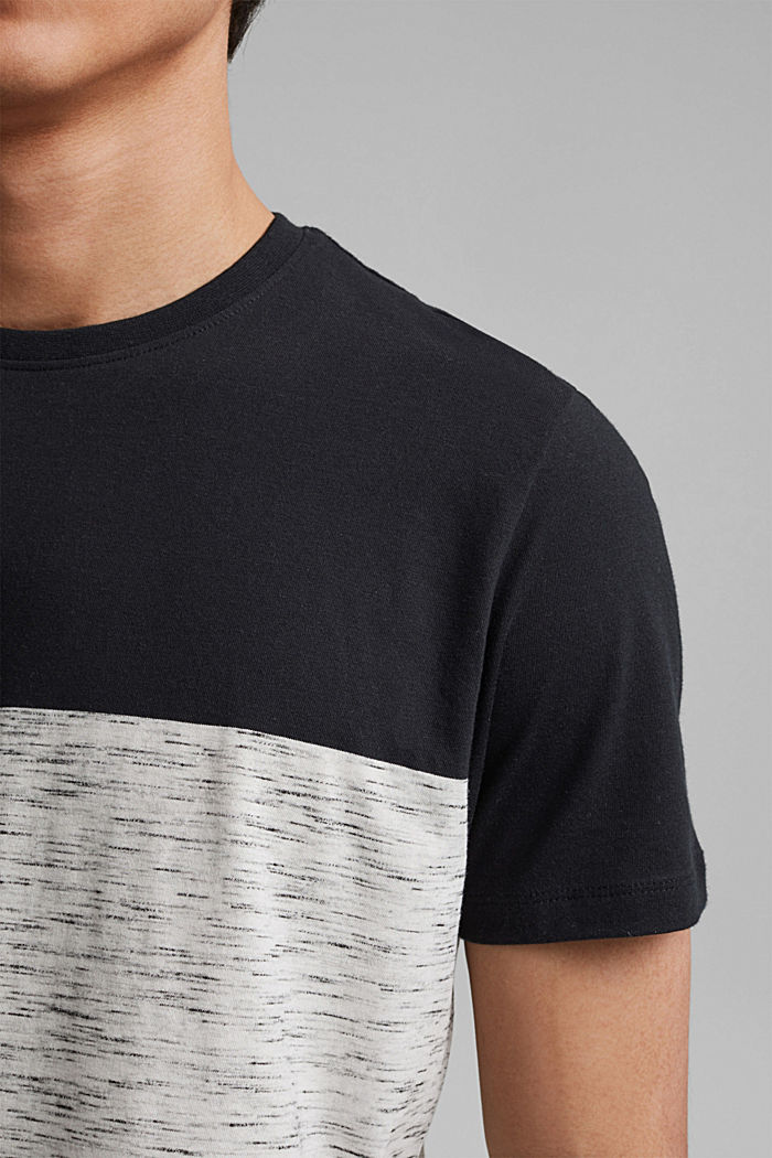 Block stripe top, organic cotton, ANTHRACITE, detail image number 1