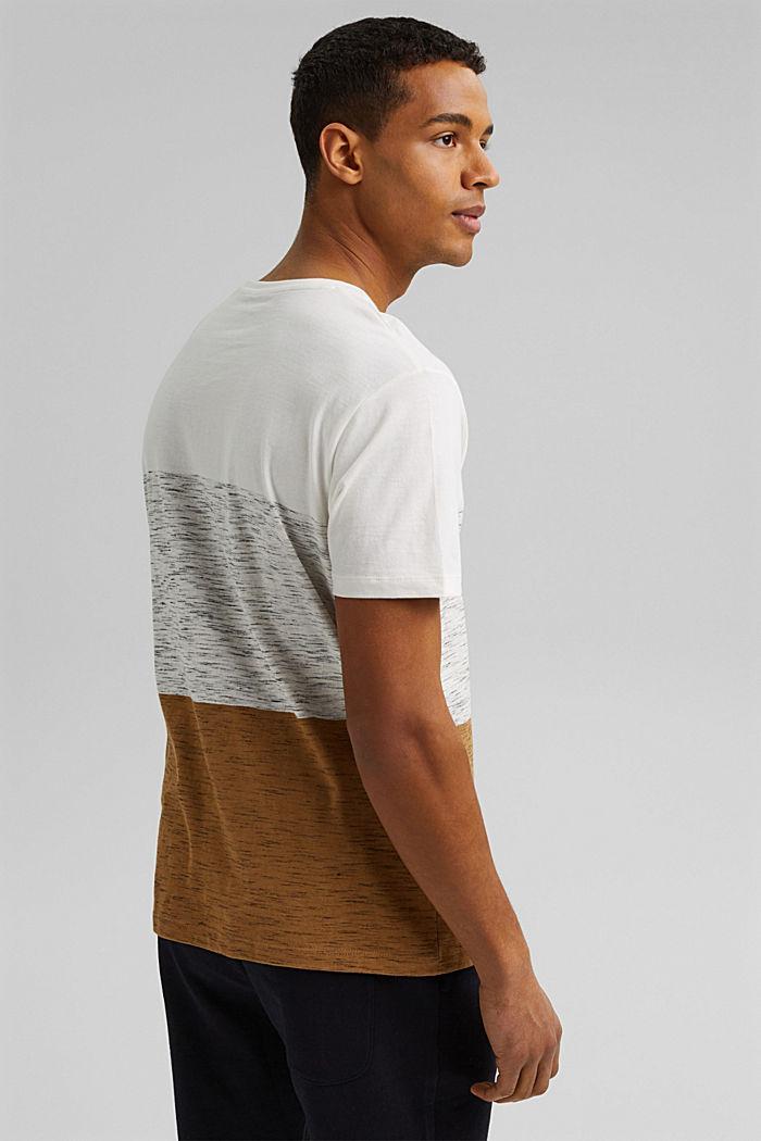 T-shirt à rayures larges, coton biologique, KHAKI BEIGE, detail image number 3