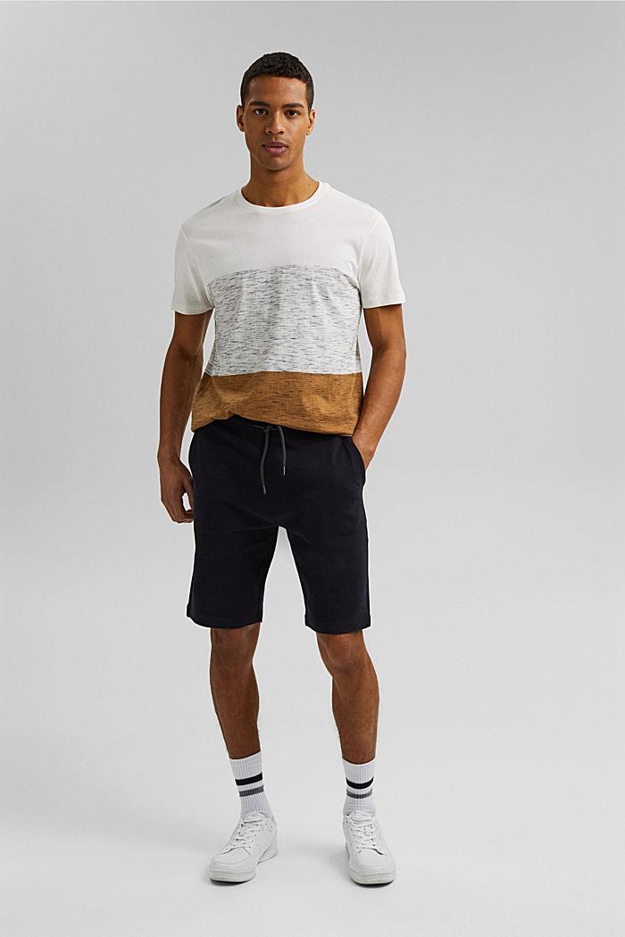 T-shirt à rayures larges, coton biologique, KHAKI BEIGE, detail image number 6