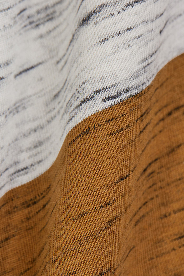 T-shirt à rayures larges, coton biologique, KHAKI BEIGE, detail image number 4
