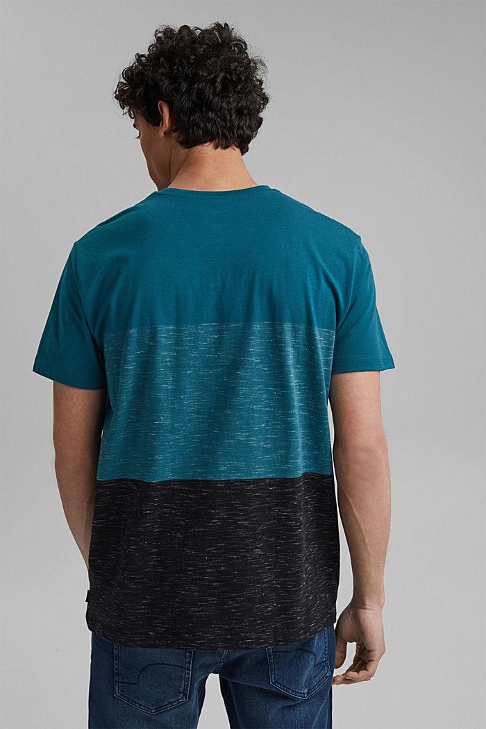 Block stripe top, organic cotton, PETROL BLUE, detail image number 3