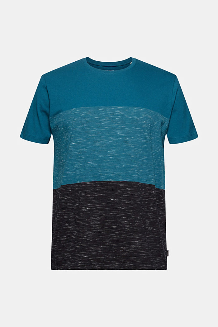 Block stripe top, organic cotton, PETROL BLUE, detail image number 5