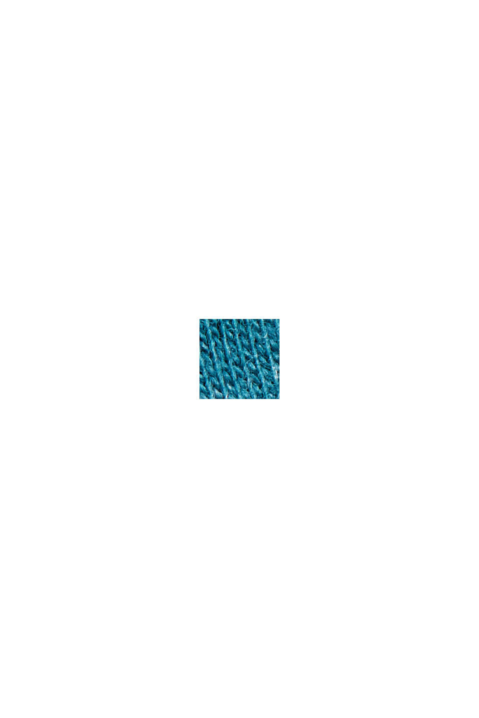 Block stripe top, organic cotton, PETROL BLUE, swatch