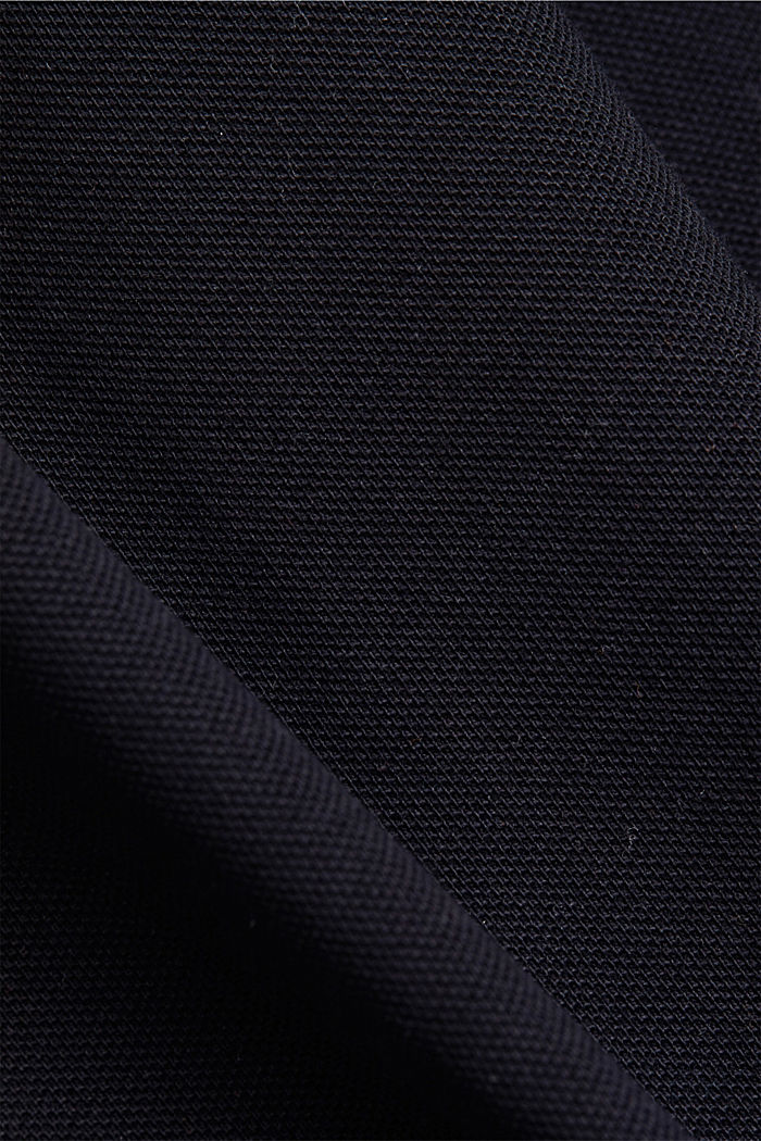 Piqué polo shirt made of 100% organic cotton, BLACK, detail image number 4
