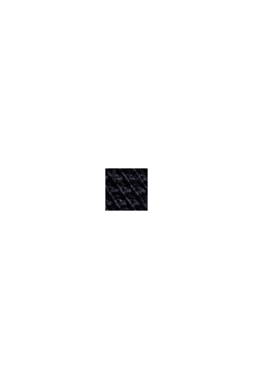 Polo en maille piquée 100% coton bio, BLACK, swatch