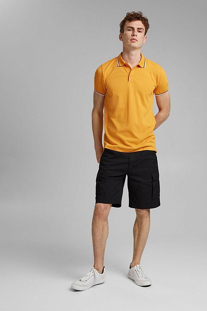 Piqué-Poloshirt aus 100% Organic Cotton, SUNFLOWER YELLOW, detail image number 2