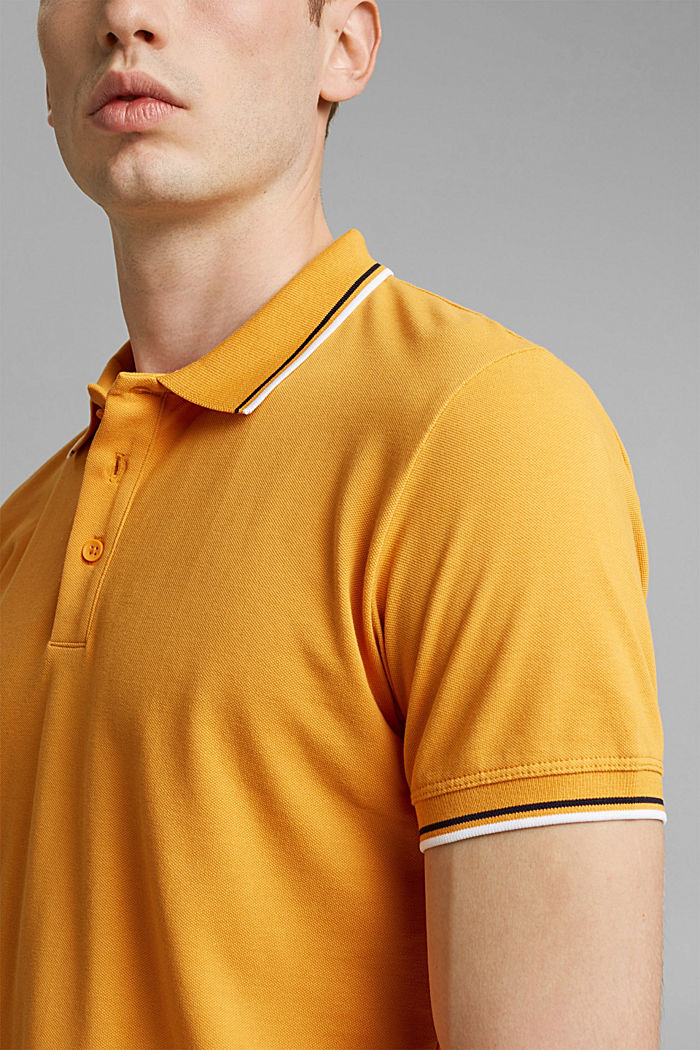 Piqué-Poloshirt aus 100% Organic Cotton, SUNFLOWER YELLOW, detail image number 1