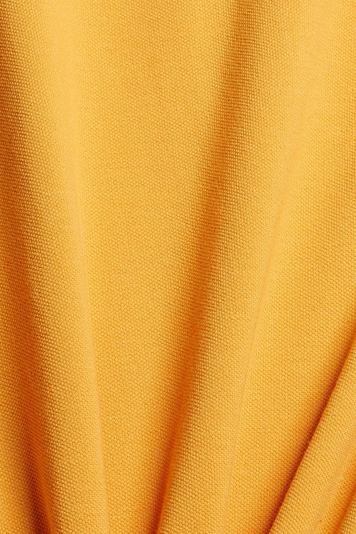 Piqué-Poloshirt aus 100% Organic Cotton, SUNFLOWER YELLOW, detail image number 5