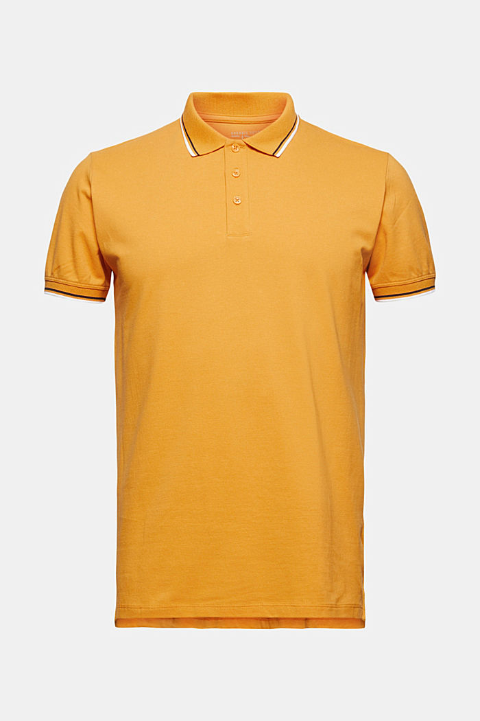 Piqué-Poloshirt aus 100% Organic Cotton, SUNFLOWER YELLOW, detail image number 6