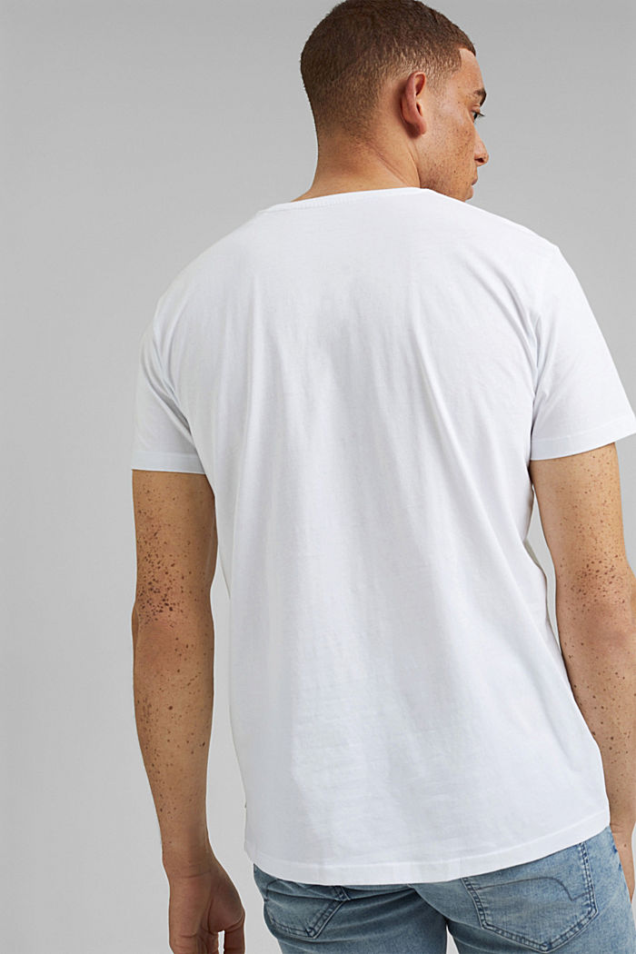 Printed T-shirt in 100% organic cotton, WHITE, detail image number 3