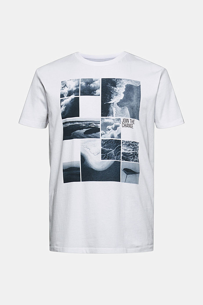 Printed T-shirt in 100% organic cotton, WHITE, detail image number 7