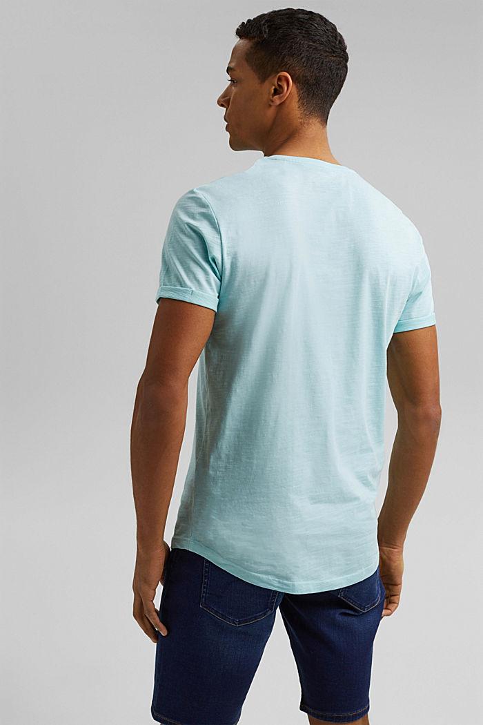 Basic-T-Shirt aus 100% Organic Cotton, LIGHT AQUA GREEN, detail image number 3