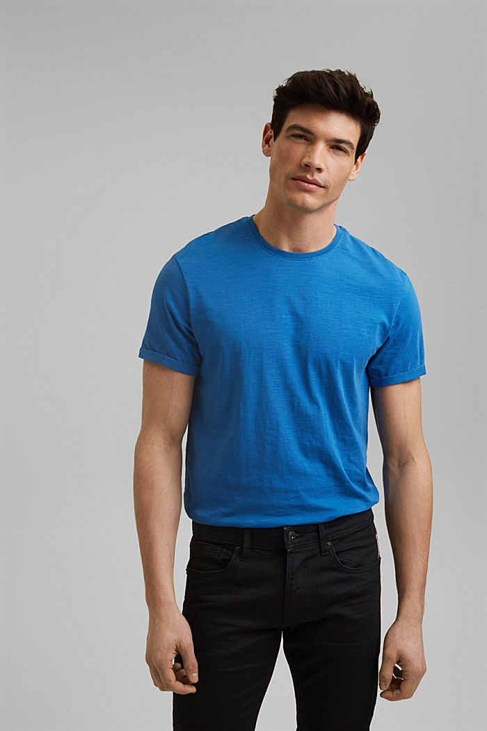 Basic T-shirt made of 100% organic cotton, BRIGHT BLUE, detail image number 0
