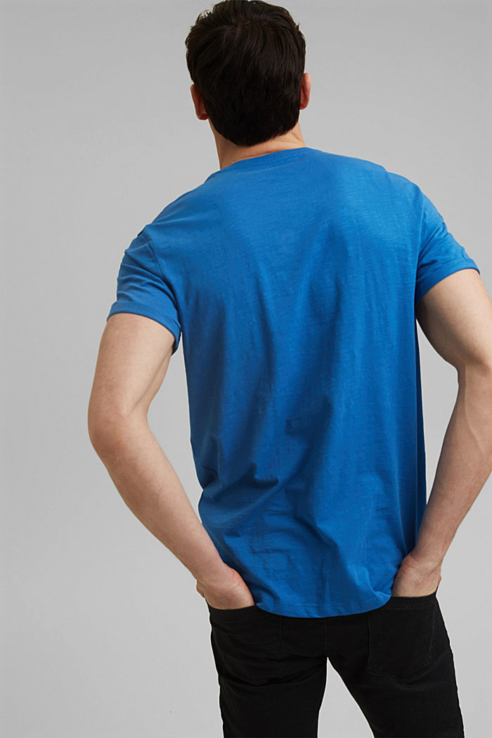 Basic T-shirt made of 100% organic cotton, BRIGHT BLUE, detail image number 3
