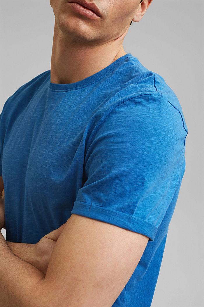 T-shirt basic w 100% z bawełny organicznej, BRIGHT BLUE, detail image number 1