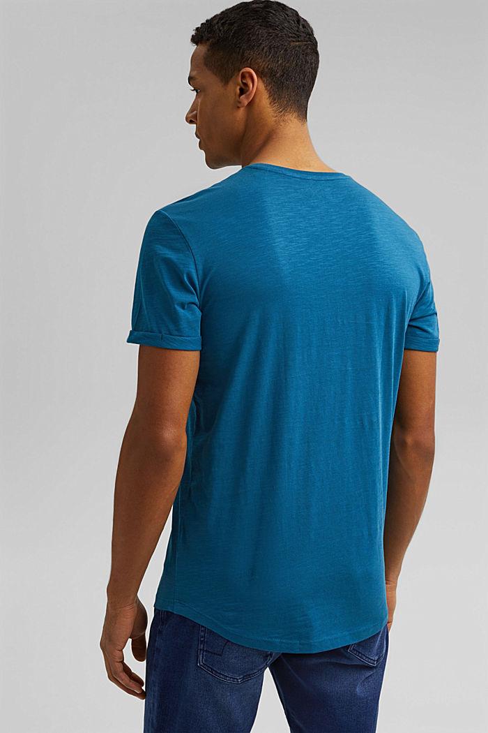 Basic T-shirt made of 100% organic cotton, PETROL BLUE, detail image number 3