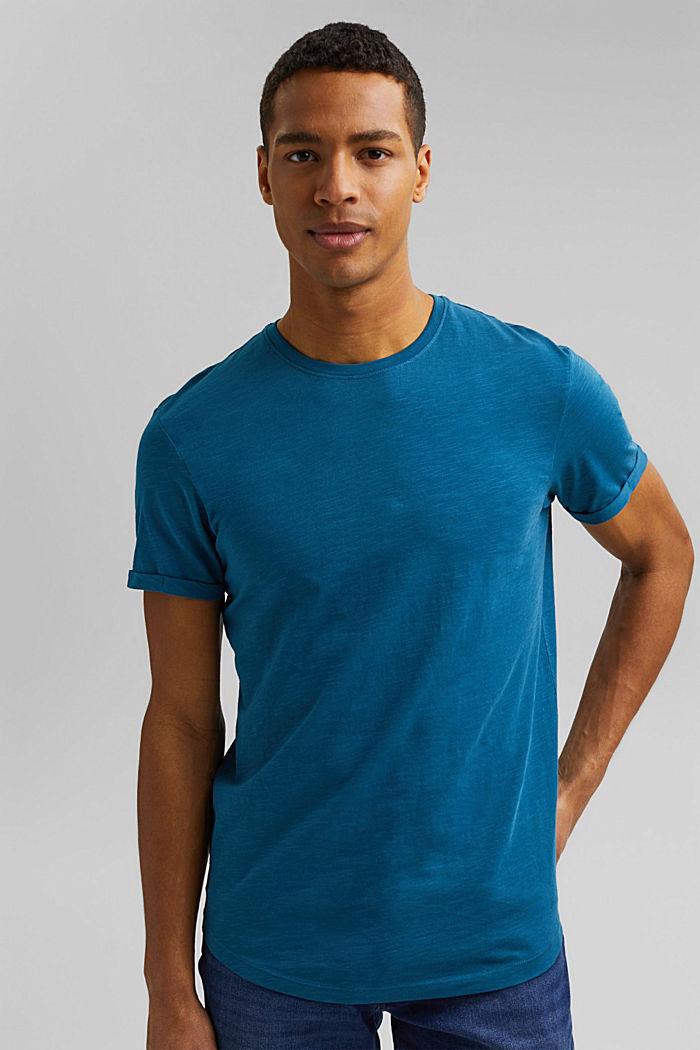 Basic T-shirt made of 100% organic cotton, PETROL BLUE, detail image number 4