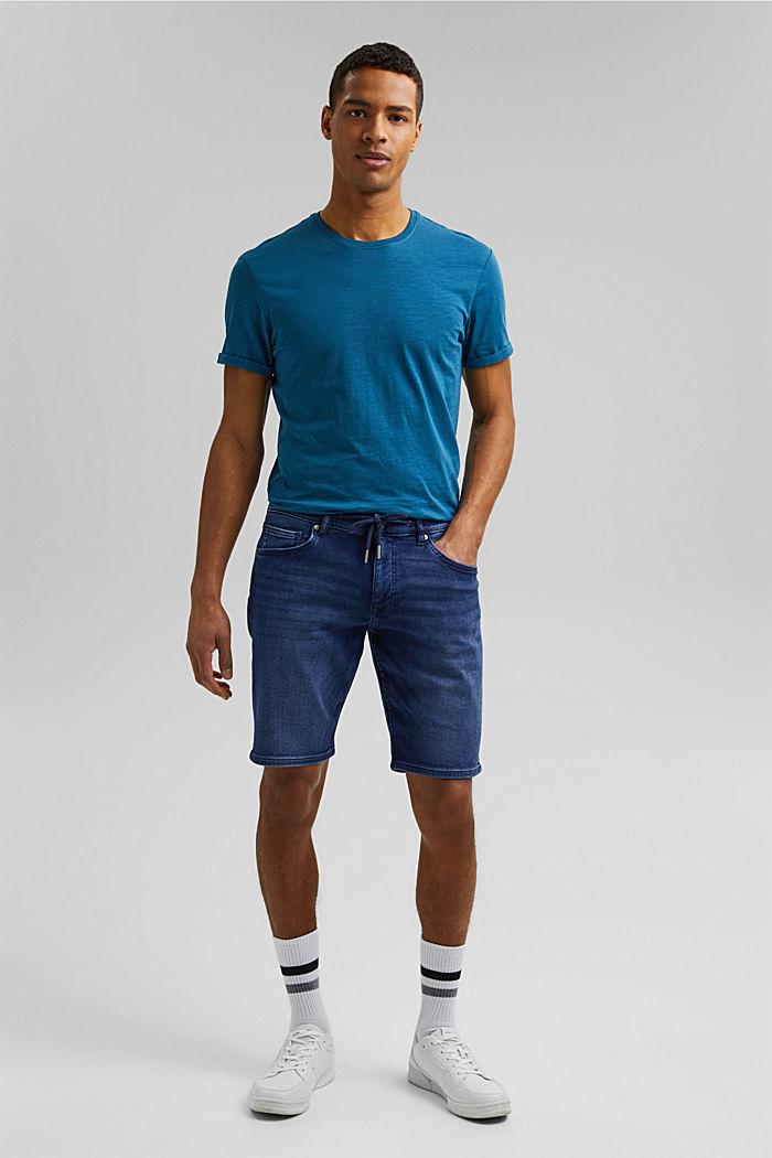 Basic T-shirt made of 100% organic cotton, PETROL BLUE, detail image number 2