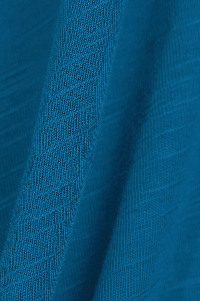 Basic T-shirt made of 100% organic cotton, PETROL BLUE, detail image number 5
