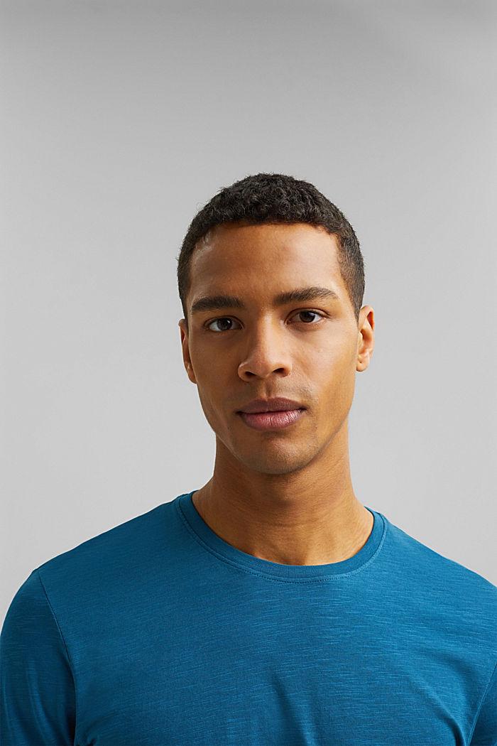 Basic T-shirt made of 100% organic cotton, PETROL BLUE, detail image number 6