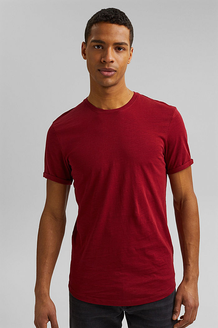 Basic T-shirt made of 100% organic cotton, DARK RED, detail image number 0