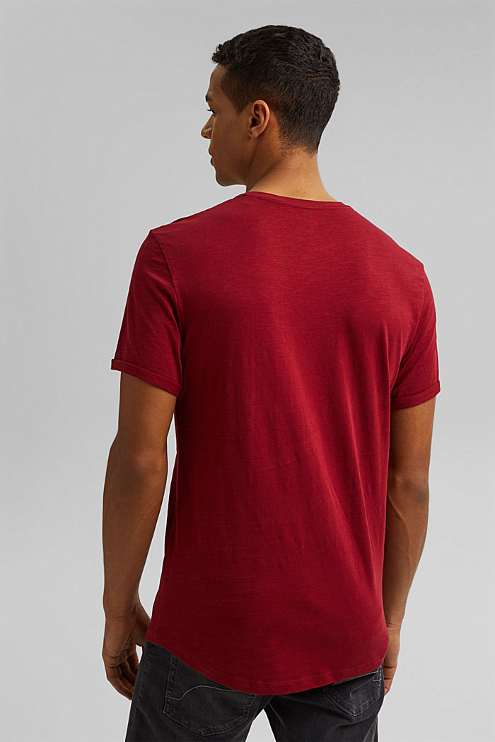 Basic T-shirt made of 100% organic cotton, DARK RED, detail image number 3