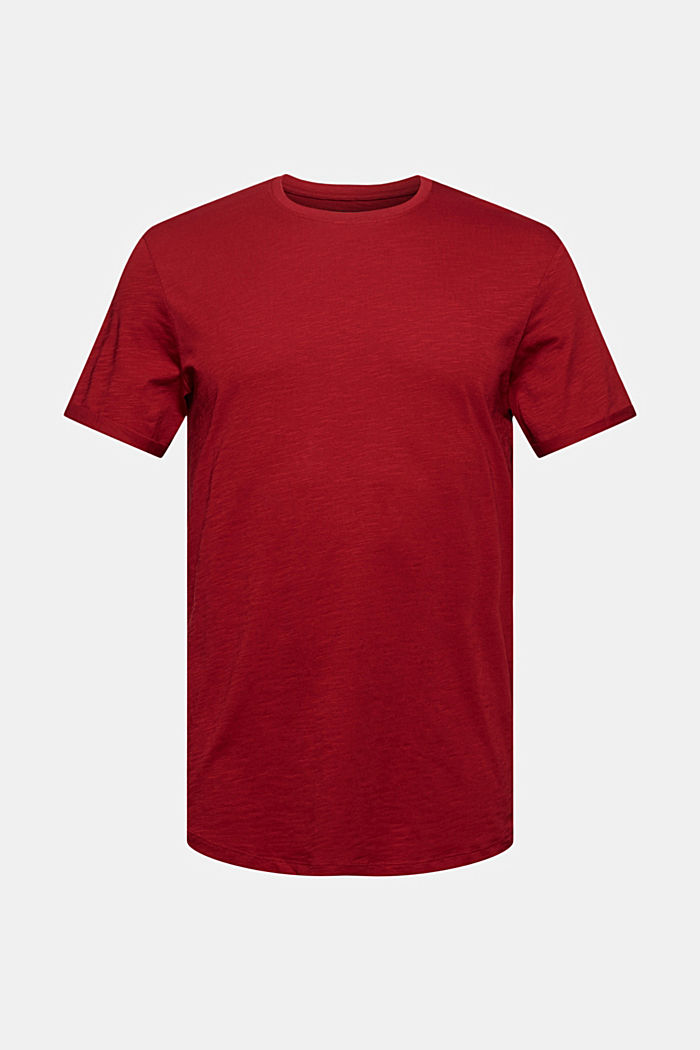 Basic T-shirt made of 100% organic cotton, DARK RED, detail image number 6