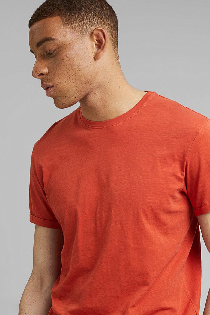 Basic T-shirt made of 100% organic cotton, CORAL, detail image number 5
