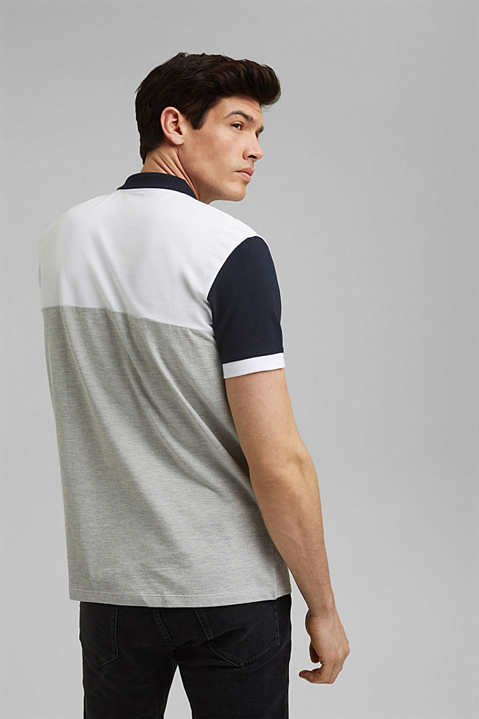 Piqué polo shirt, organic cotton, WHITE, detail image number 3