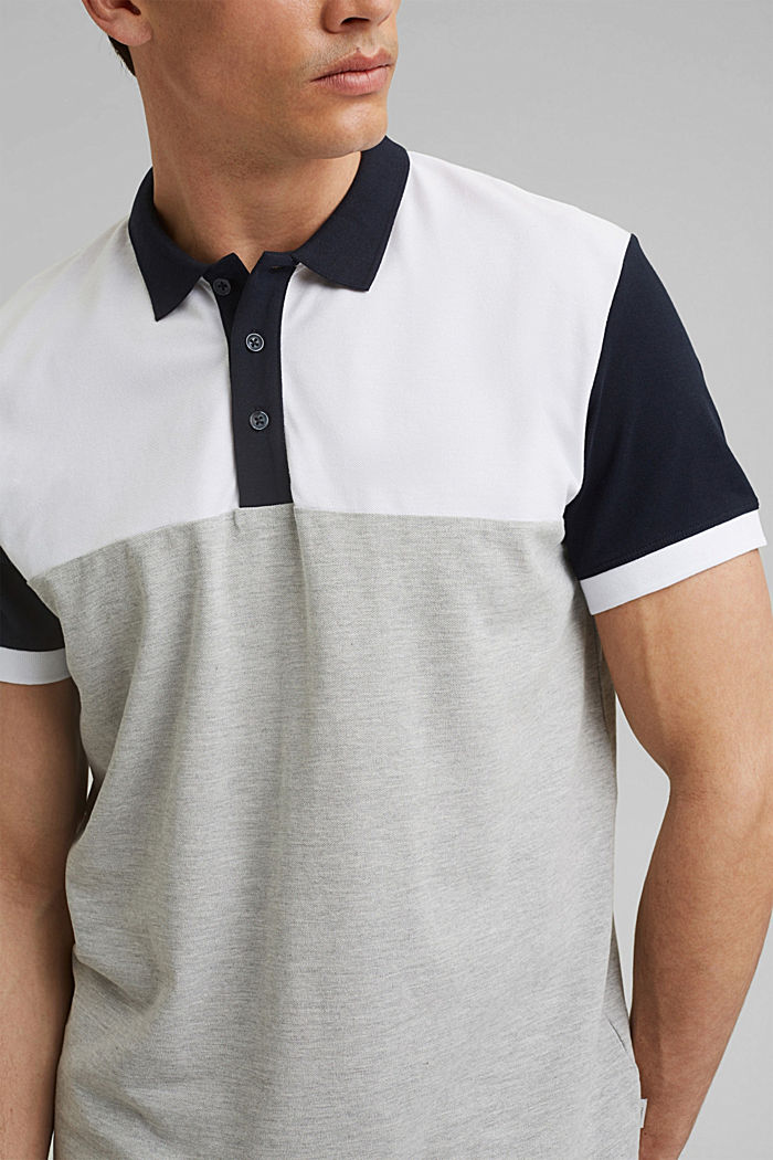 Piqué polo shirt, organic cotton, WHITE, detail image number 1