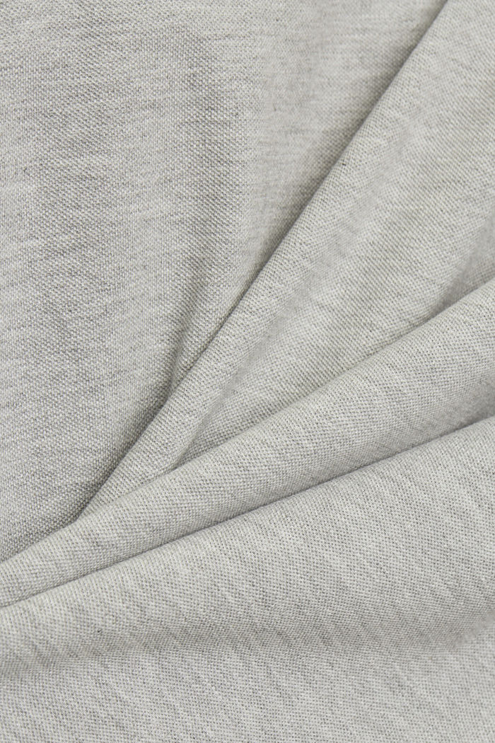 Piqué polo shirt, organic cotton, WHITE, detail image number 4