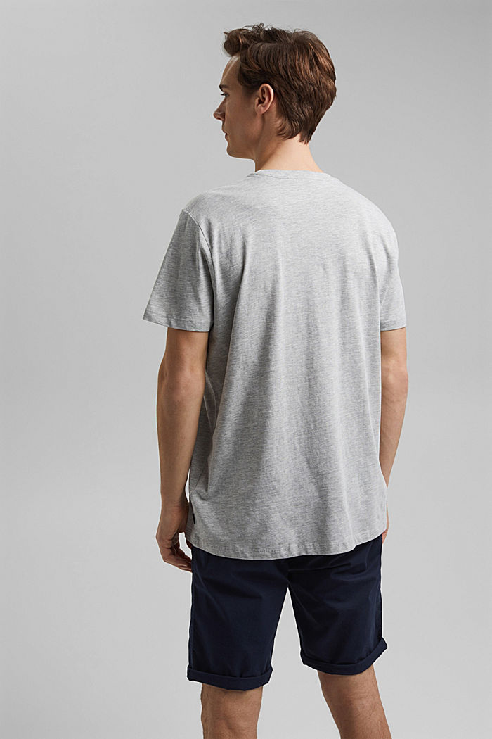 Printed jersey top containing organic cotton, LIGHT GREY, detail image number 3