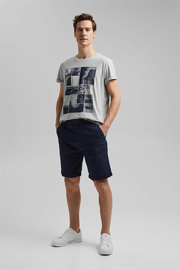 Camiseta de jersey estampada, con algodón ecológico, LIGHT GREY, detail image number 4