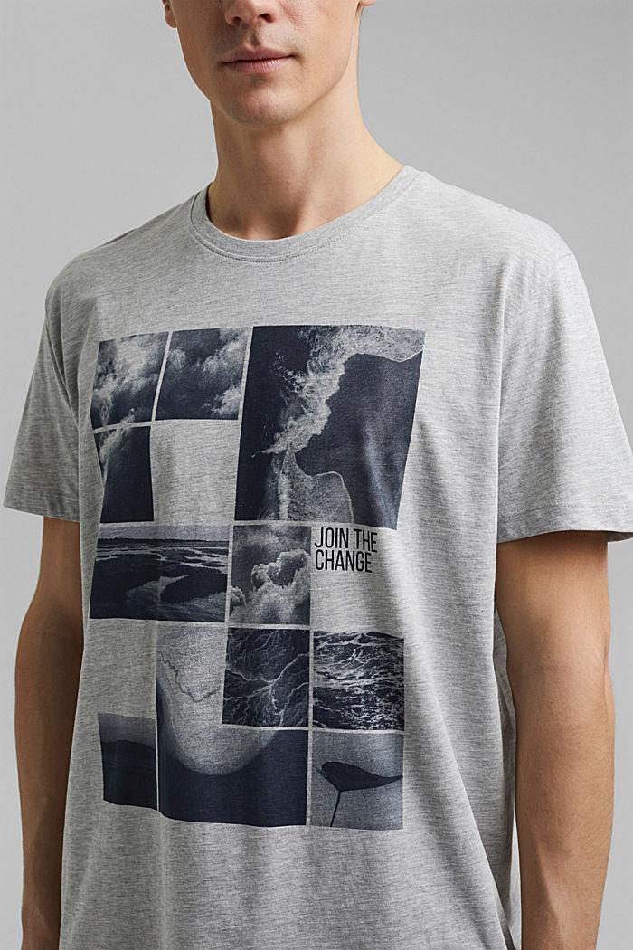 Camiseta de jersey estampada, con algodón ecológico, LIGHT GREY, detail image number 1